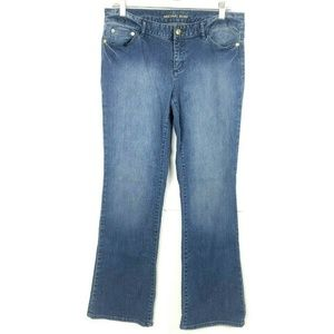 Michael Kors MK Womens Medium Blue Wash Denim Jean